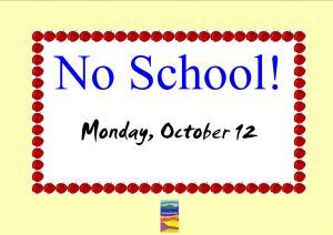 No School Poster Sept 2015