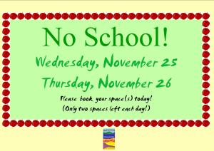 No School for Monarch and Sycamore Elementary Schools  Beaver Bank Homeowork Club