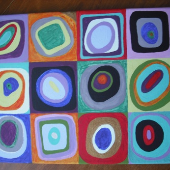 "Tribute to Wassily Kandinsky ""Color Study. Squares with Concentric Circles, 1913."""