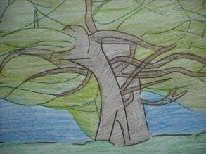 "Tribute to Piet Mondrian ""Gray Tree, 1912."""