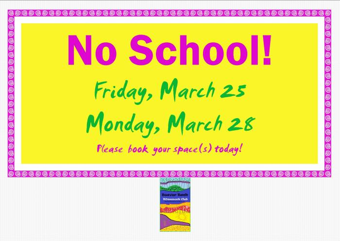 No School Poster Easter 2016