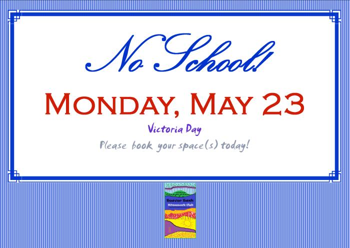 No School Victoria Day Poster 2016